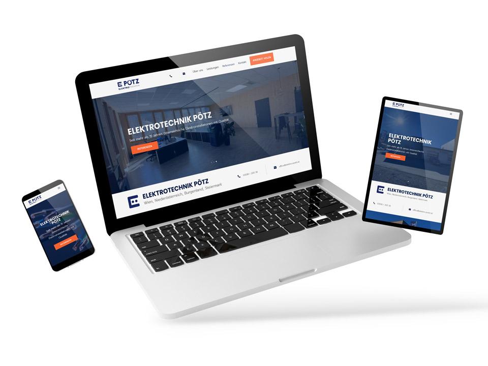 Website Webdesign Elektrotechnik Pötz - Spitzer Grafik - Werbeagentur Oststeiermark Hartberg